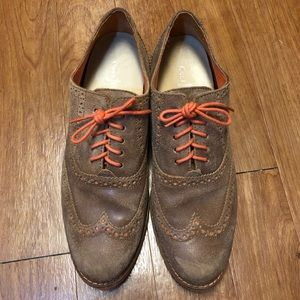 Cole Haan Brown Suede Oxfords